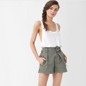 Splendid nude pink Twill Belted Shorts NWT